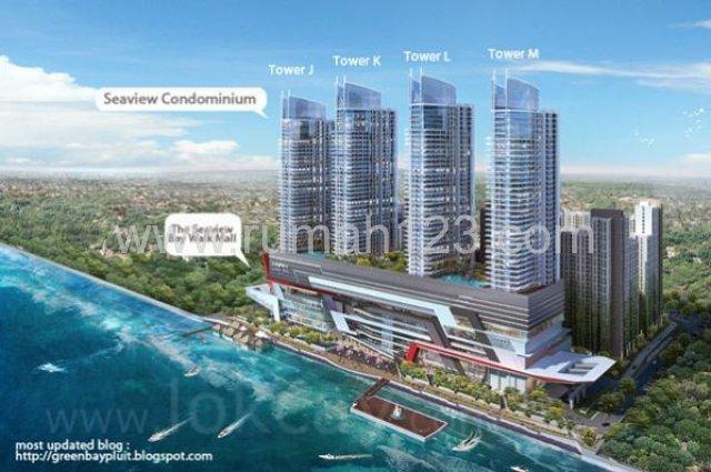 Greenbay Kondo 2bed 82m2 View Laut Plong Harga Murah, Pluit, Jakarta Utara