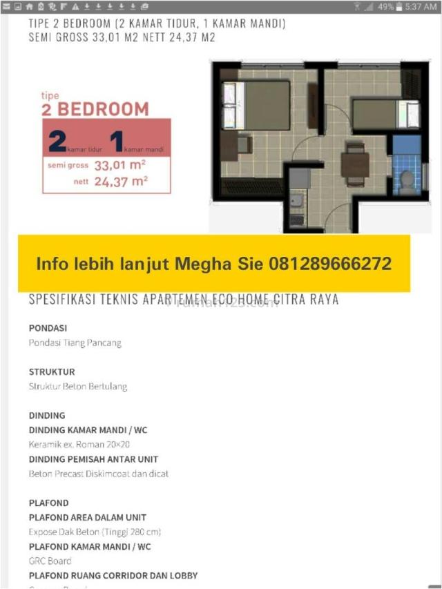 Apartemen baru ecohome citra raya cikupa tangerang banten, Cikupa Citra Raya, Tangerang