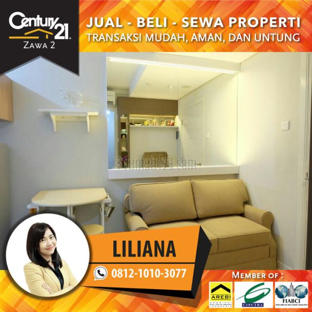Apartemen Madison Park Type 1Br Fully Furnished Cantik & Siap Huni,Tinggal Bawa Koper, Grogol, Jakarta Barat