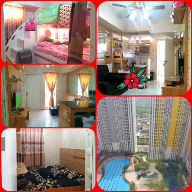 Springlake 3br full furnish , bisa bayar perbulan,view pool, unit bagai penthouse,, Summarecon Bekasi, Bekasi