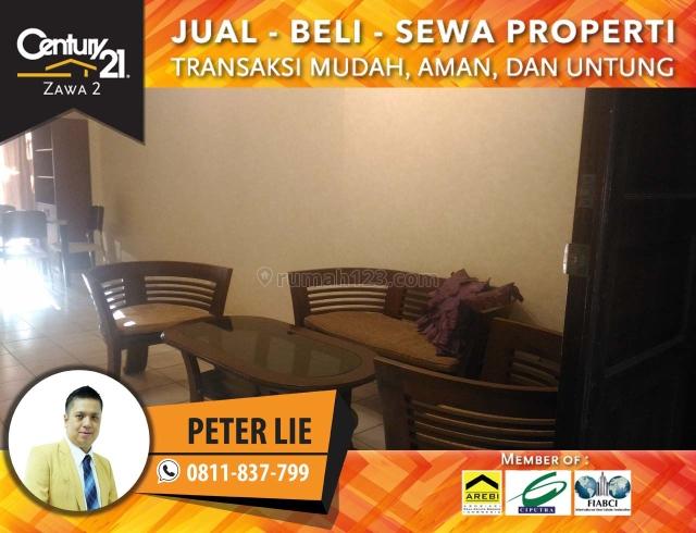 Apartment Mediterania Garden 1 Type Town House 3+1BR Fully Furnish Luas 95m2, Tanjung Duren, Jakarta Barat