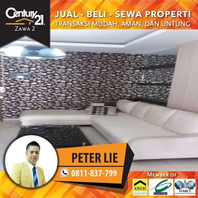 Apartemen Mediterania Garden 2--3BR+1 Fully Furnish Lantai Rendah Luas 70m2 view Pool, Tanjung Duren, Jakarta Barat
