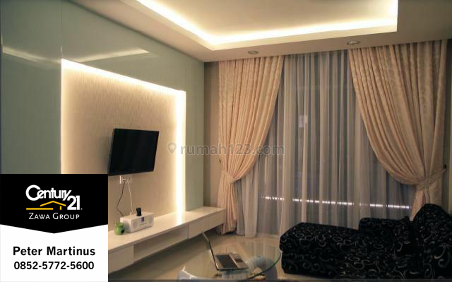 APARTEMENT CENTRAL PARK RESIDENCE 2BR FULL FURNISH LANTAI TINGGI BEST VIEW 155JT/THN, Central Park, Jakarta Barat