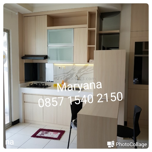 Apartemen Medit 2 Tj Duren 2 BR Furnish bagusss & baru Tahunan, Tanjung Duren, Jakarta Barat