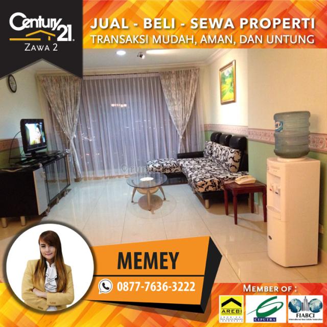 Apartemen Taman Anggrek 2+1BR Full Furnished L.sedang View City 1 Line tlpn Luas 88m2 Harga 110 Juta Pertahun, Taman Anggrek, Jakarta Barat