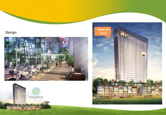 Apartemen CASA DE PARCO, MAGNOLIA TOWER (Sinar Mas Land), Lengkong Kulon, Tangerang