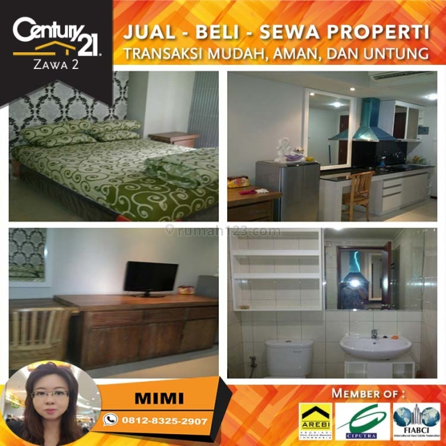 Apartemen Royal Mediterania garden Type Studio Fully Furnished Lantai Sedang, Tanjung Duren, Jakarta Barat