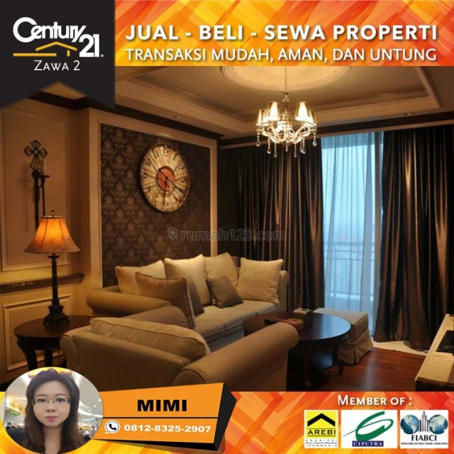 Apartemen Central Park Residence 2BR Full Furnished High FLoor Lokasi Strategis, Central Park, Jakarta Barat