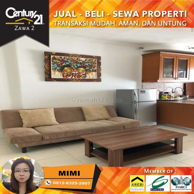 Apartemen Mediterania Garden 2BR Full Furnish Middle Floor View City Tower Edelwais, Tanjung Duren, Jakarta Barat