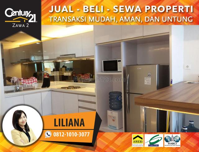 Apartemen Central Park Ltinggi Full Furnished Luas 77m2 2BR View Pullman Harga 150Juta Nego, Central Park, Jakarta Barat
