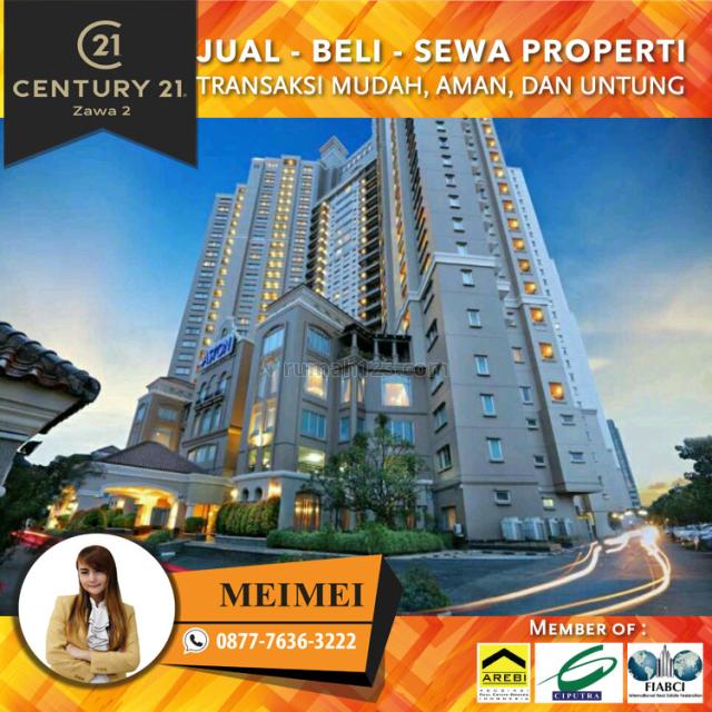 apartemen aston marina ancol luas 78m2 3 1br furnished lantai rendah view laut harga 950jt, ancol, jakarta utara
