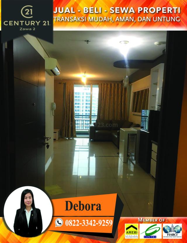 Apartemen Central Park Luas 44m2 Furnished, Central Park, Jakarta Barat