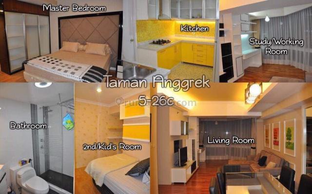 Apartemen Taman Anggrek-Type 2BR+1 Luas 88m2 Lantai rendah, Taman Anggrek, Jakarta Barat