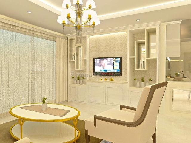 apartemen springhill kemayoran 2br furnished lantai tengah brand new, kemayoran, jakarta pusat