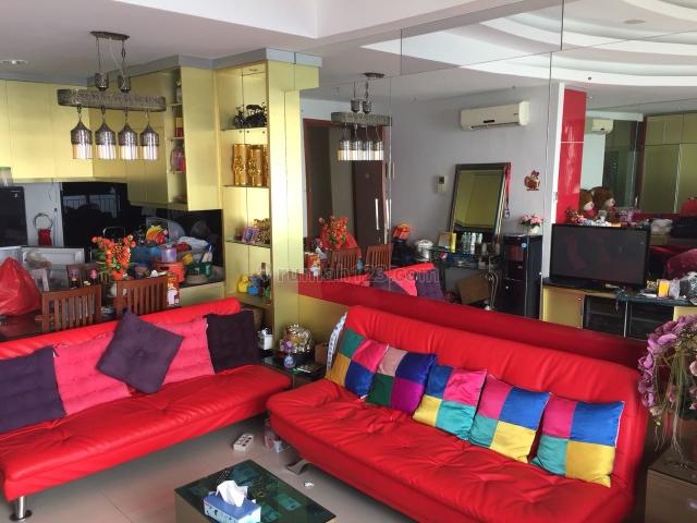 apartemen ancol mansion 1br furnished lantai tinggi view laut, ancol, jakarta utara