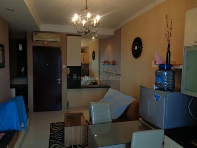 apartemen mediterania garden 2, 2 bedroom furnish lantai tinggi luas 42 m2 view central park harga 60jt perthn, Tanjung Duren, Jakarta Barat