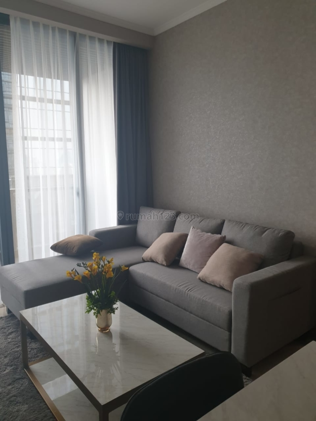 Apartemen District 8 1BR Full Furnished Lantai Tinggi Tower Eternity, Senopati, Jakarta Selatan