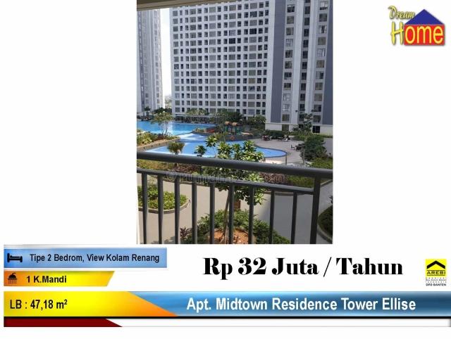 WTR !! Apartemen Midtown Residence Tower Ellise, Gading Serpong, Tangerang