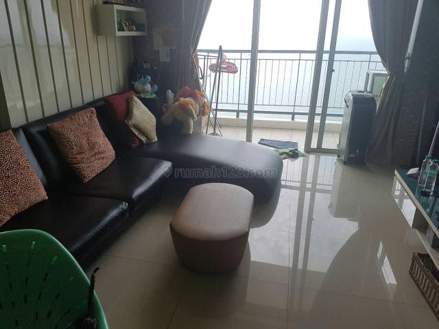 apartemen ancol mansion 1br lantai atas view laut fully furnished, ancol, jakarta utara