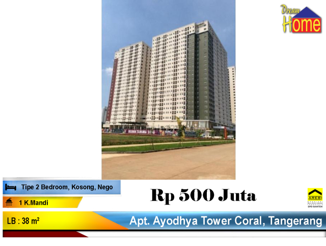 BUB !! Apartemen Ayodhya Tower Coral Siap Huni, Cikokol, Tangerang
