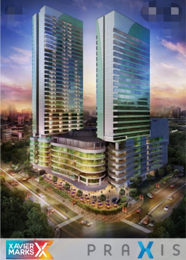Apartemen Praxis lokasi pusat CBD Surabaya, Keputran, Surabaya