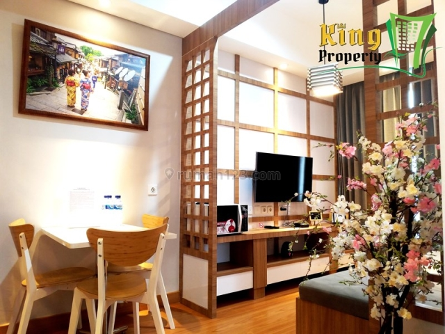 Brand New Japanese Style Interior! 2BR Furnish Taman Anggrek Residences, Grogol, Jakarta Barat