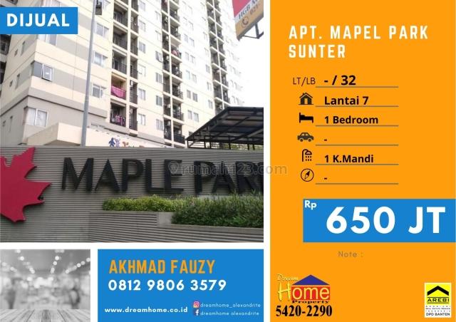 MURAH !! Apartemen Mapel Park Sunter Jakarta Utara, Sunter, Jakarta Utara