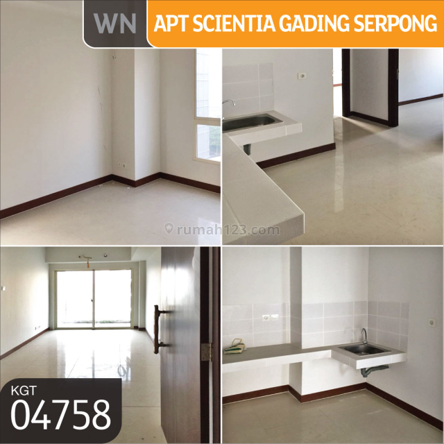 Apartemen  Scientia Residence Tower D Lantai 12 Gading Serpong, Tangerang, Serpong, Tangerang