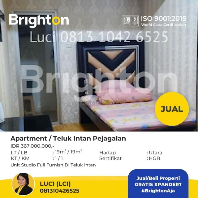 Unit Studio Fully Furnished Apartemen Teluk Intan, Jakarta Utara, Penjaringan, Jakarta Utara