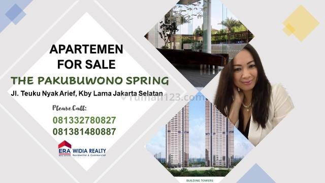 Apartemen Mewah Type 2 SIAP PAKAI & MURAH @THE PAKUBUWONO SPRING,  Kebayoran Lama, Jakarta Selatan, Kebayoran Lama, Jakarta Selatan