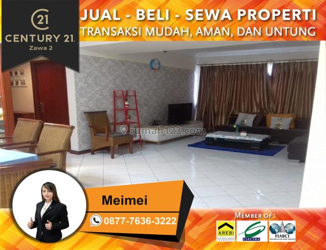 Apartemen Condo Taman Anggrek Luas 88m2 2+1BR Furnished Lantai Sedang, Taman Anggrek, Jakarta Barat
