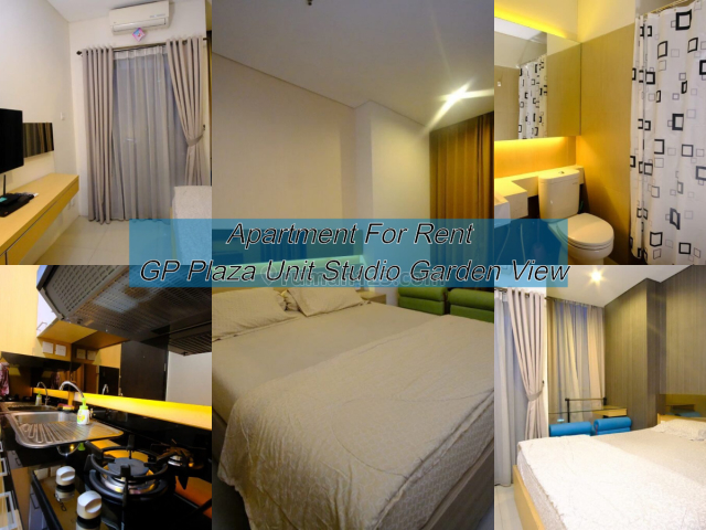 Apartment GP Plaza Unit Studio New Interior&Garden View, Slipi, Jakarta Barat