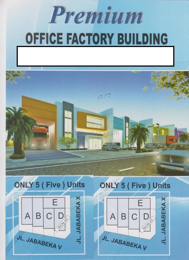 Premium Office Factory Building, Lokasi Strategis / Pinggir Jln di Cikarang, Cikarang, Bekasi