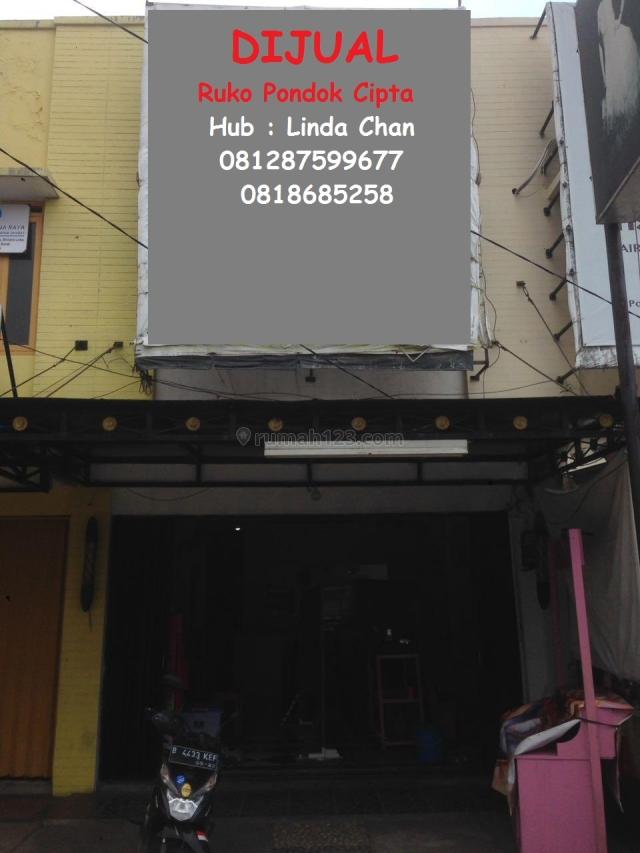 Ruko 2.5 lantai komersil pondok cipta bekasi, Bintara, Bekasi