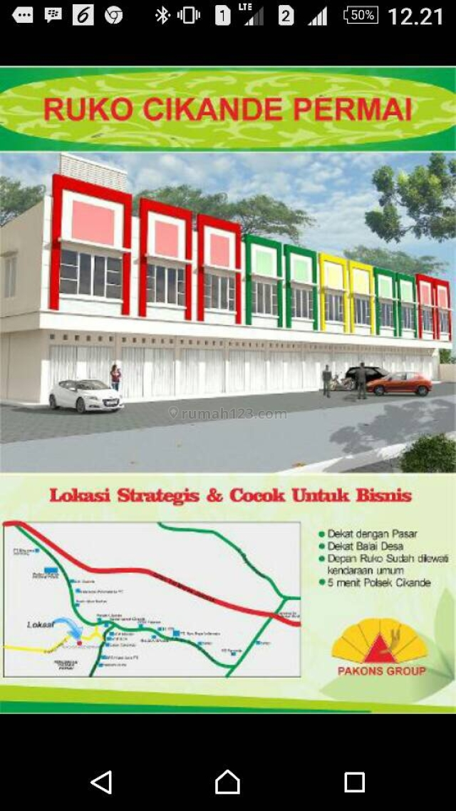 Ruko Cikande Permai, Lokasi Strategis, Kondisi Bangunan Baru, Cocok Untuk Bisnis Komersial, Cibitung, Tangerang