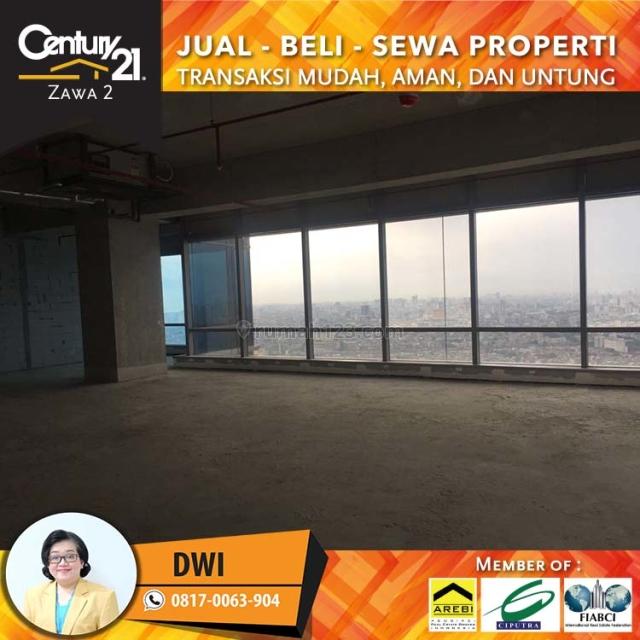 Office Space At SOHO CAPITAL Kondisi Bare Luas 300 M2, Tanjung Duren, Jakarta Barat