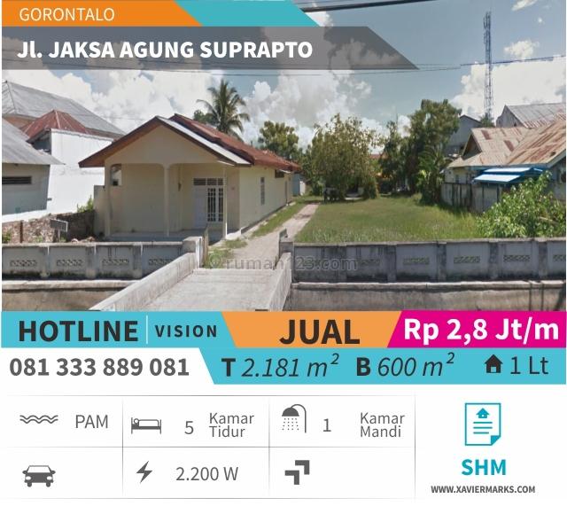 Rumah Luas 0 Jalan Raya Gorontalo Sebelah Pusat Perbelanjaan Cocok Untuk Ruko/Perkantoran, Batudaa Pantai, Gorontalo