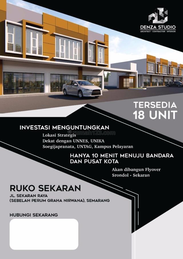 Ruko baru 2 lantai + basement, jl raya sekaran, Gunungpati, UNNES Semarang, Gunung Pati, Semarang