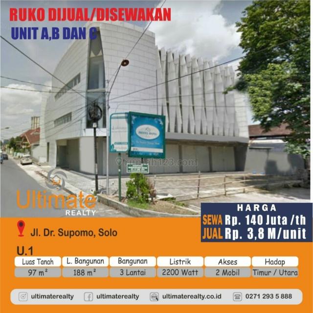 komplek pertokoan dan ruang usaha., Mangkubumen, Solo