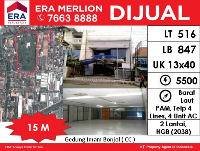 Gedung 2 lt di Imam Bonjol, Semarang Tengah, Semarang