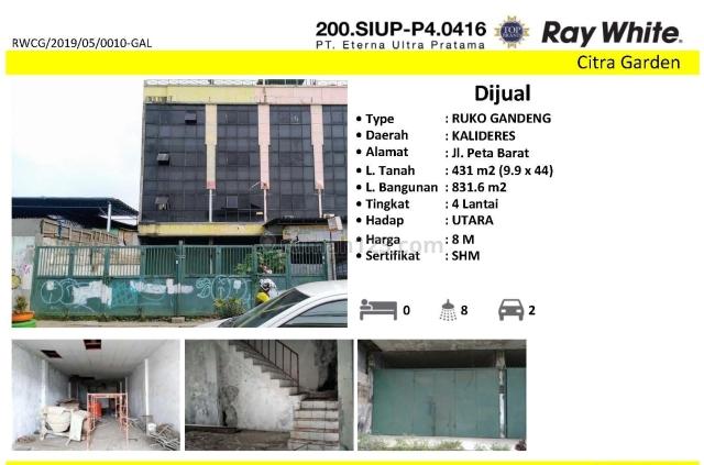 RUKO 3 GANDENG JLN PETA BARAT JAKARTA BARAT KODE RWCG/2019/05/0010-GAL, Kalideres, Jakarta Barat