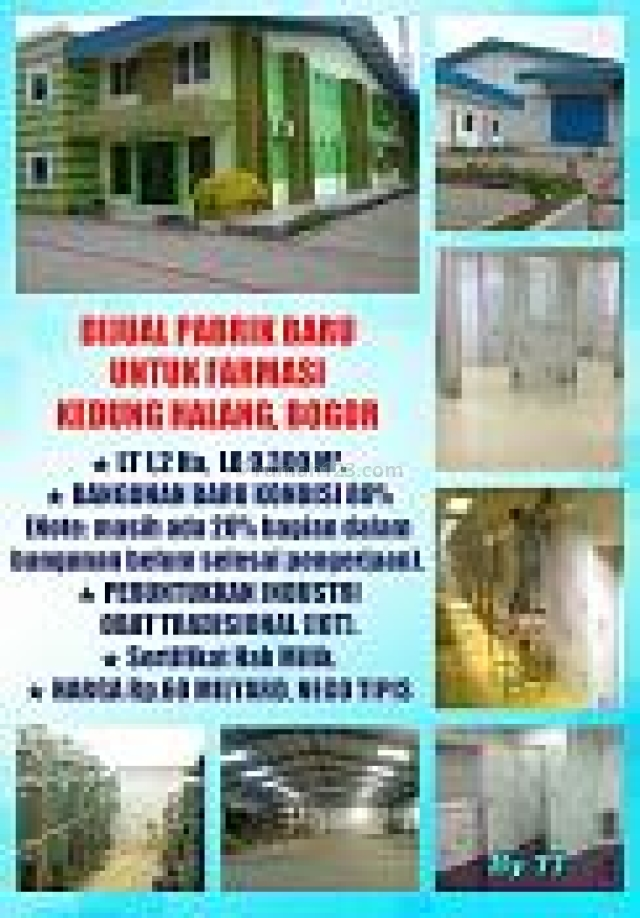 Super Murah pabrik baru Farmasi kedung halang Bogor!!, Kedung Halang, Bogor