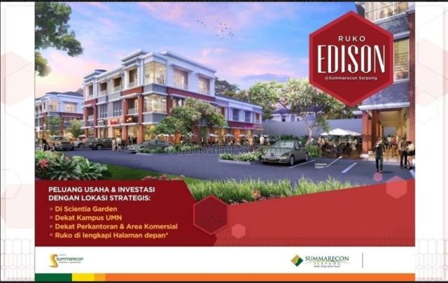 Ruko 2 Lantai Edison di Gading Serpong, Gading Serpong, Tangerang