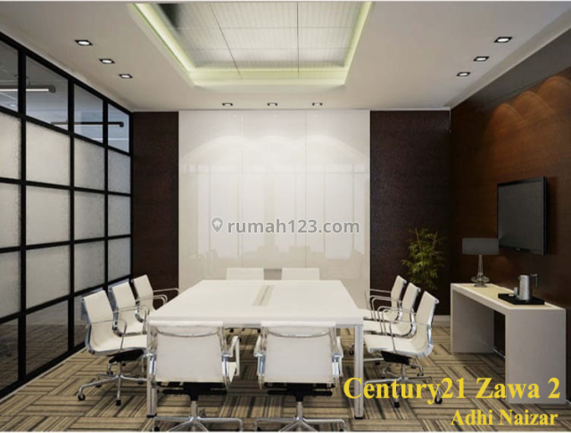 Office APL Tower Luas 576m2 View City Full Furnished Harga 275rb /m2, Central Park, Jakarta Barat