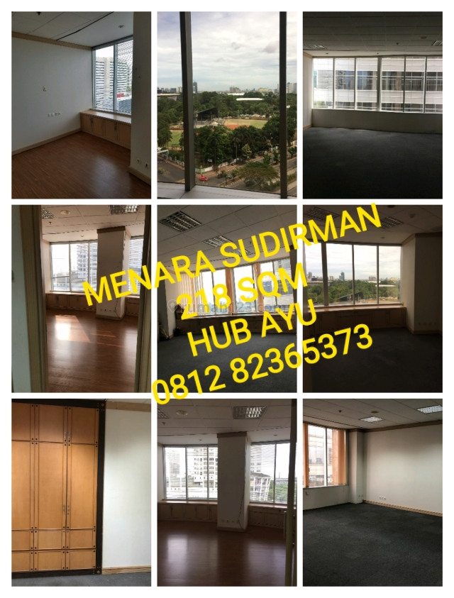 MENARA SUDIRMAN, 218 M2, FITTED, HUB AYU 081282365373, Senayan, Jakarta Selatan