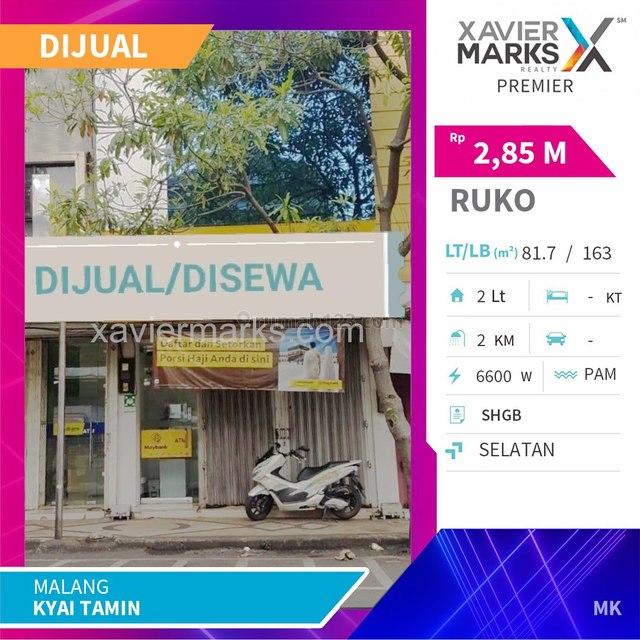 Ruko Jalan Kyai Tamin Kota Malang Lokasi Sangat Strategis, Klojen, Malang