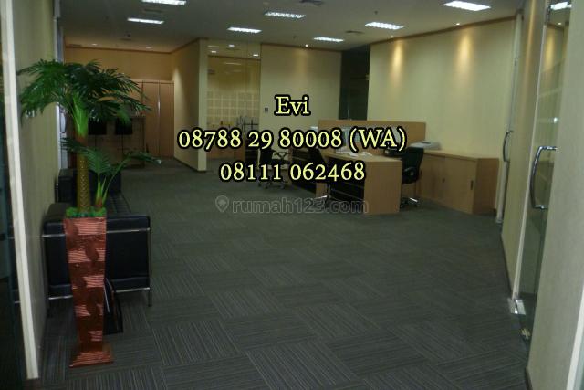 Office Space APL Tower Central Park Full Furnished Strategic Location, Grogol, Jakarta Barat