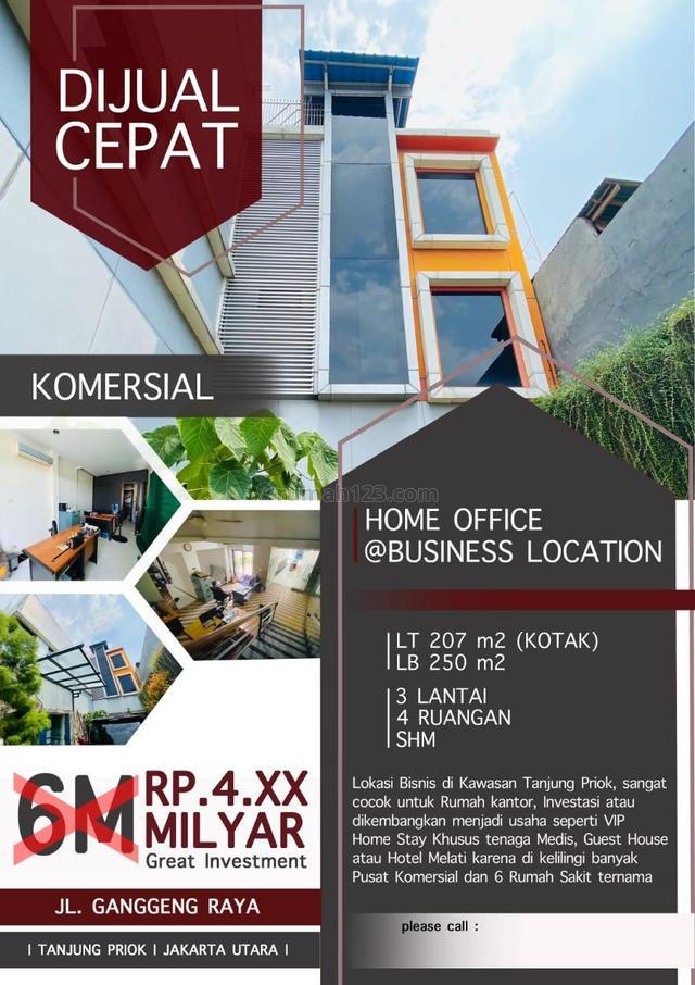 Dijual Cepat Ruko Bangunan Kantor di Kawasan Tanjung Priok, Jl Gangeng Raya, Tanjung Priok, Jakarta Utara