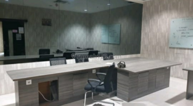 MURAHHH BANGETTT!!!  OFFICE SPACE APL TOWER 280M² FURNISHED @Central Park, Podomoro City, Central Park, Jakarta Barat