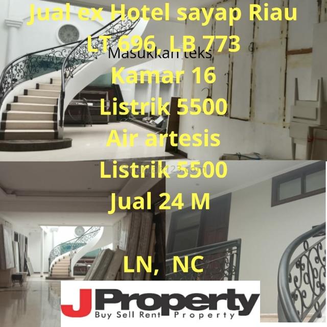 EX HOTEL SAYAP RIAU LOKASI STRATEGIS, Riau, Bandung